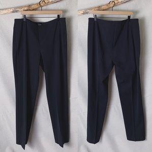 TALBOTS TALL Curvy Fit Navy Slim Crop Pant 18L